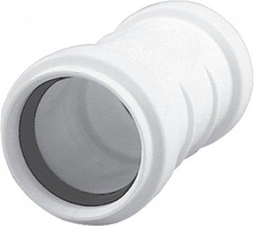 HTplus - złączka dwukielichowa biała