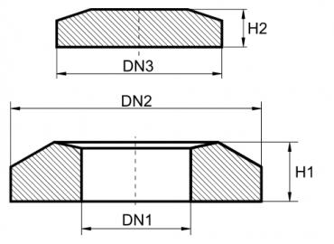 Stożek betonowy 315